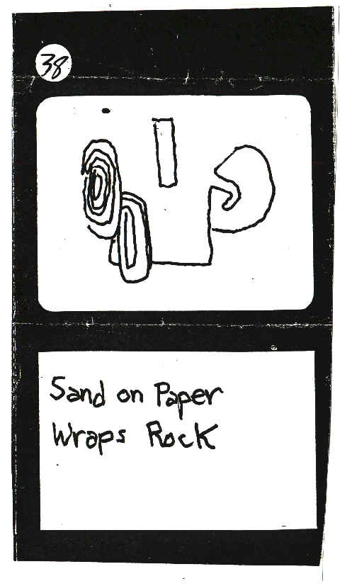 Sand On Paper Wraps Rock